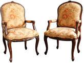 One Kings Lane Vintage Pair of Louis XVI-Style Bergeres
