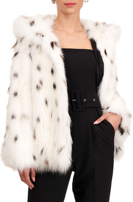 Yves Salomon Fox Fur Jacket w/ Hood