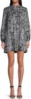 Thumbnail for your product : MICHAEL Michael Kors Zebra-Print Cotton Mini Dress