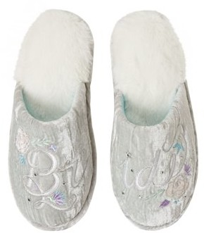 Dearfoams Women's Bridal Closed Toe Scuff slippers