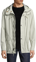 Cole Haan Garment Washed Hooded Top Coat