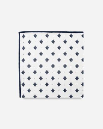 Express Pocket Square Clothing Arthur Blue Diamond Pocket Square