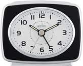 Acctim Retro 2 Analogue Alarm Clock with Snooze | Black & White