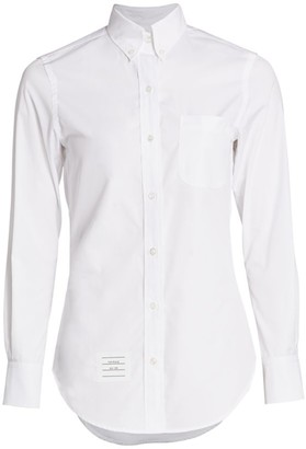 Thom Browne Classic Long Sleeve Button Down Shirt