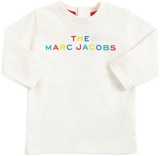 Little Marc Jacobs Logo Print Cotton Jersey T-shirt
