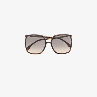 Fendi Brown oversized square sunglasses