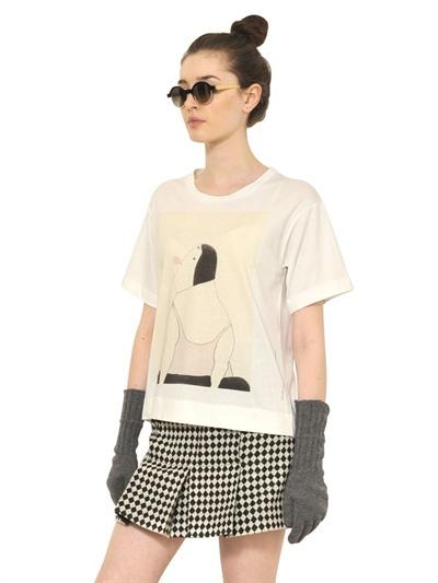 Marni Printed Stretch Cotton T-Shirt