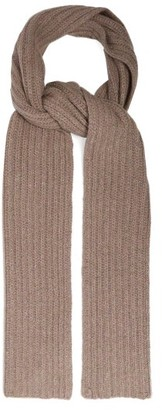 Gabriela Hearst Donegal Rib-knitted Cashmere Scarf - Womens - Camel