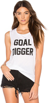 Private Party Goal Digger Tank in White. - size S (also in )