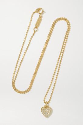 Jennifer Meyer Heart 18-karat Gold Diamond Necklace - one size