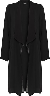 Wallis Black Waterfall Duster Jacket
