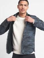 Sherpa-lined camo shirt jacket