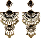 Natasha Accessories Vintage Deco Charmy Dangle Earrings