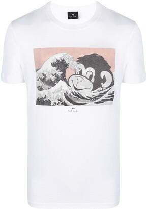 Paul Smith monkey print T-shirt