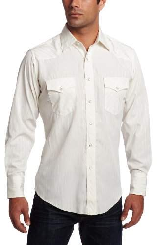 Wrangler Men's Tall Sport Western Snap Shirt in Dobby Stripe