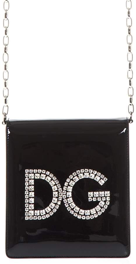 Dolce & Gabbana Black Patent Leather Crossbody Bag
