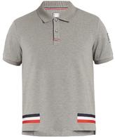 Moncler Gamme Bleu Stripe-print cotton-piqué polo shirt