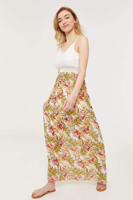 Ardene Lace and Chiffon Floral Maxi Dress