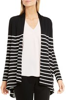 Vince Camuto Clipper Stripe High Low Cardigan