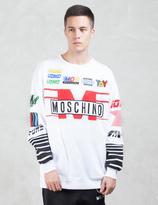 Moschino Multi Logo Racer Sweatshirt