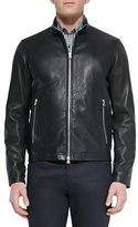 Theory Basic Leather Jacket, Black