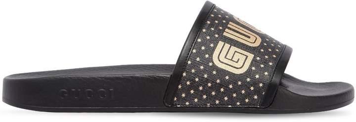 Gucci Pursuit Guccy Stars Rubber Slide Sandals