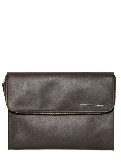Giorgio Armani Saffiano Leather Document Holder