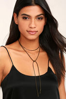 LuLu*s Megara Gold and Brown Layered Choker Necklace