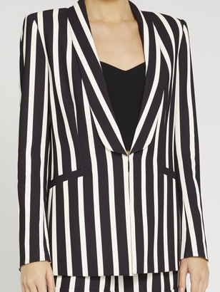 Alice + Olivia Skye Striped Boyfriend Blazer