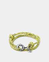Yellow Noir Clyde Rope and Silver Bracelet