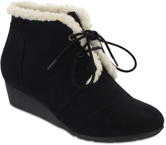 Mia Amore Sarah Lace-Up Faux Shearling Bootie