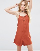 Asos Cami Waisted Romper with Cross Back