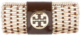 Tory Burch Leather & Wicker Clutch