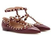 Valentino Garavani Rockstud Leather Ballerinas