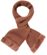 "Australia Luxe Collective Women's Knit Shearling Long Scarf, 60"" x 8"""