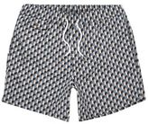 River Island MensBlue geometric print swim trunks