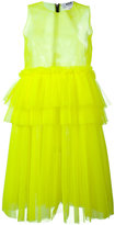 MSGM ruffle mesh dress - women - Polyester - 40