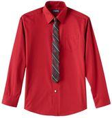 Chaps Boys 4-7 Dress Shirt & Tie Set