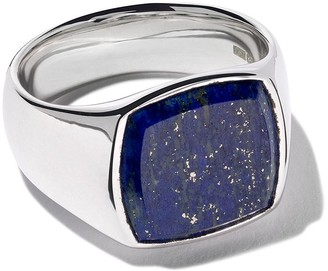 Lapis Tom Wood cushion blue ring