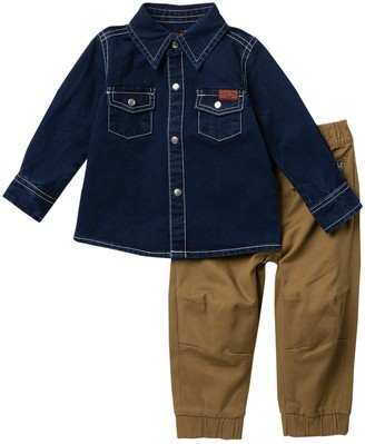 7 For All Mankind Denim Top & Joggers - 2-Piece Set (Baby Boys 12-24M)