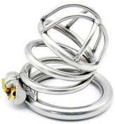 Gaogoo Metal Male Chastity Cage made of 304 Steel Stainless belt Cock Penis Lock Chastity Device ( 52MM) Y2-52