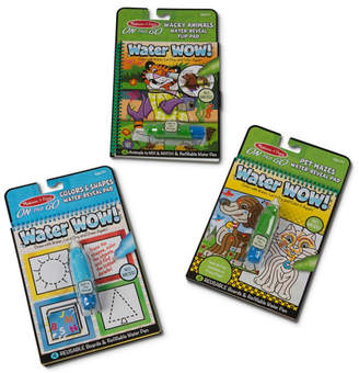 Melissa & Doug Melissa Doug Water Wow Water-Reveal Travel Activity Pad 3-Pack -Flip Pad, Colors-Shapes, Mazes