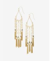 Express metal fringe and tassel drop earrings