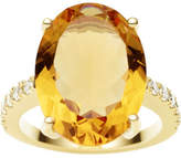 Jan Logan 18ct Citrine Diamond Bianca Ring