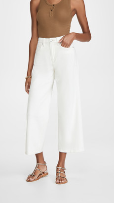 Good American Pallazo Cropped Jeans