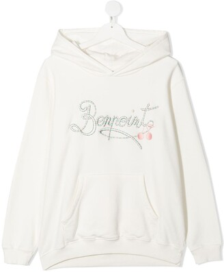 Bonpoint TEEN embroidered logo hoodie
