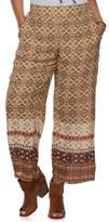 Iz Byer Junior's Plus Size Print Wide-Leg Soft Pants