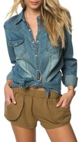 O'Neill Women's July Embroidered Denim Shirt