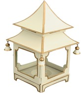 The Well Appointed House Cream and Gold Mini Pagoda Candleholder