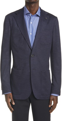 Canali Classic Fit Solid Knit Blazer